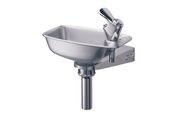 Halsey Taylor Bracket Fountain, Non-Filtered, Non-Refrigerated, Stainless