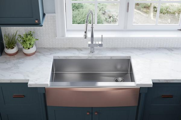 Elkay® Stainless Steel Farmhouse Sink With Interchangeable Apron Front