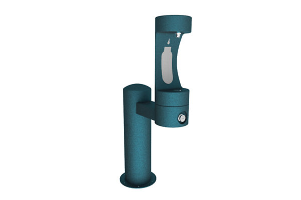 Halsey Taylor Endura II Outdoor HydroBoost Bottle Filling Station, Pedestal, Non-Filtered, Non-refrigerated