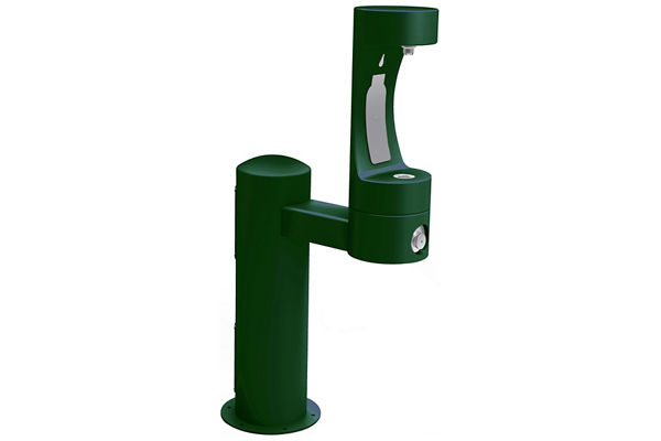 Halsey Taylor Endura II Outdoor HydroBoost Bottle Filling Station, Pedestal Non-Filtered Non-Refrigerated