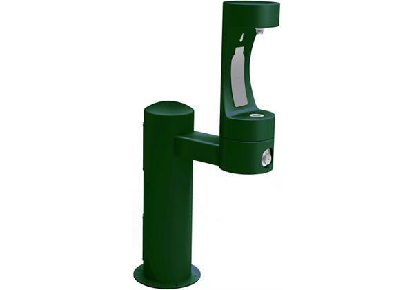 Image for Halsey Taylor Endura II Outdoor HydroBoost Bottle Filling Station, Pedestal Non-Filtered Non-Refrigerated, Evergreen from Halsey Taylor