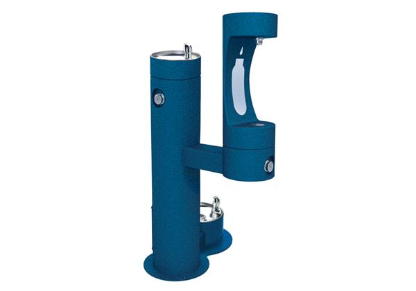 Image for Halsey Taylor Endura II Outdoor HydroBoost Bottle Filling Station, Bi-Level with Pet Station, Non-Filtered, Non-refrigerated from Halsey Taylor