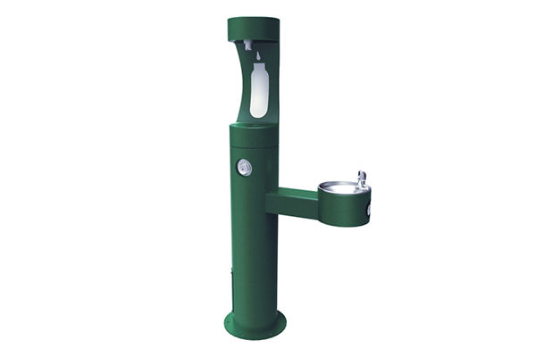 Halsey Taylor Endura II Outdoor HydroBoost Bottle Filling Station, Bi-Level Pedestal, Non-Filtered, Non-refrigerated