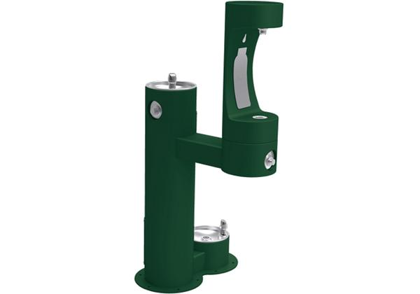 Image for Halsey Taylor Outdoor HydroBoost Bottle Filling Station, Bi-Level w/ Pet Station Non-Filtered Non-Refrigerated Freeze Resistant, from Halsey Taylor