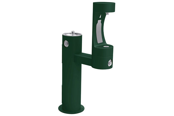 Halsey Taylor Endura II Outdoor HydroBoost Bottle Filling Station, Bi-Level Pedestal Non-Filtered Non-Refrigerated