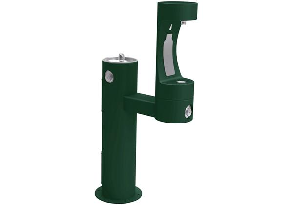 Image for Halsey Taylor Endura II Outdoor HydroBoost Bottle Filling Station, Bi-Level Pedestal Non-Filtered Non-Refrigerated from Halsey Taylor