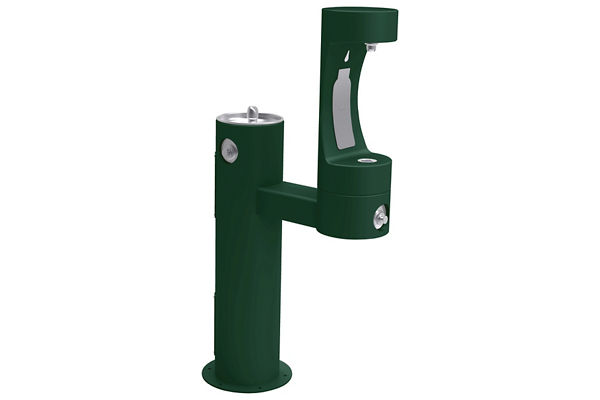 Halsey Taylor Endura II Outdoor HydroBoost Bottle Filling Station, Bi-Level Pedestal Non-Filtered Non-Refrigerated FR