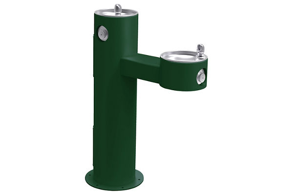 Halsey Taylor Endura II Tubular Outdoor Fountain, Bi-Level Pedestal Non-Filtered Non-Refrigerated