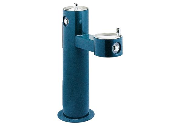 Image for Halsey Taylor EnduraII Tubular Outdoor Fountain, Bi-Level Pedestal, Non-Filtered, Non-Refrigerated, Sanitary Freeze Resistant from Halsey Taylor