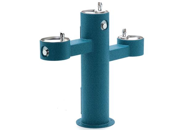 Image for Halsey Taylor EnduraII Tubular Outdoor Fountain, Tri-Level Pedestal, Non-Filtered, Non-Refrigerated from Halsey Taylor
