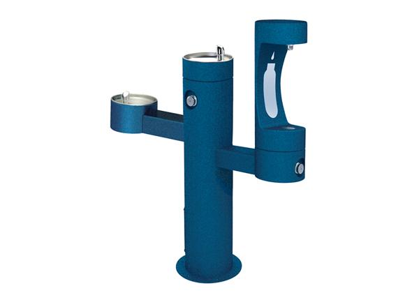 Image for Halsey Taylor Endura II Outdoor HydroBoost Bottle Filling Station, Tri-Level Pedestal, Non-Filtered, Non-refrigerated from Halsey Taylor