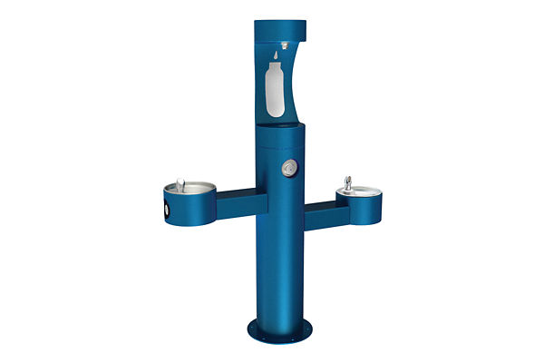 Halsey Taylor Endura II Outdoor HydroBoost Bottle Filling Station, Tri-Level Pedestal, Non-Filtered, Non-refrigerated