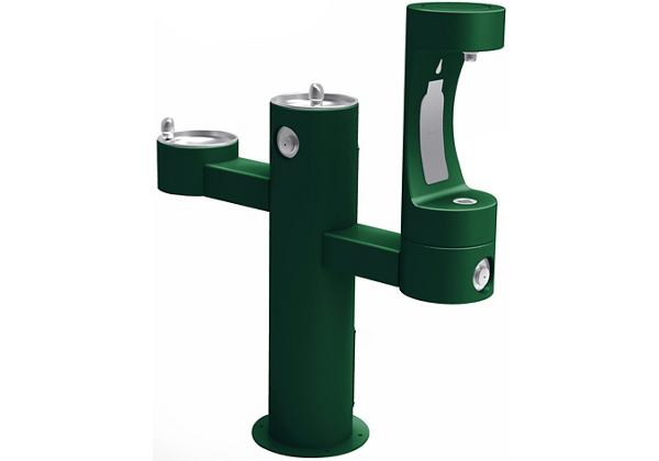 Image for Halsey Taylor Endura II Outdoor HydroBoost Bottle Filling Station, Tri-Level Pedestal Non-Filtered Non-Refrigerated FR from Halsey Taylor