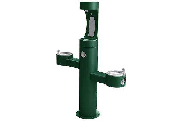 Halsey Taylor Endura II Outdoor HydroBoost Bottle Filling Station, Tri-Level Pedestal Non-Filtered Non-Refrigerated
