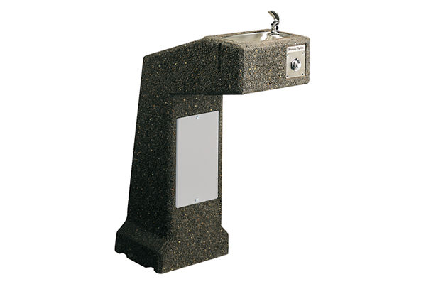 Halsey Taylor Outdoor Sierra Stone Fountain, Pedestal Non-Filtered Non-Refrigerated