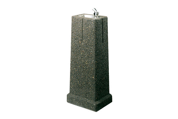 Halsey Taylor Outdoor Sierra Stone Fountain, Bi-Level Pedestal, Non-Filtered, Non-Refrigerated