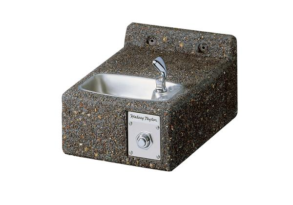 Image for Halsey Taylor Outdoor Sierra Stone Fountain, Wall Mount, Non-Filtered, Non-Refrigerated from Halsey Taylor
