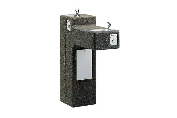 Halsey Taylor Outdoor Sierra Stone Bi-Level Pedestal Fountain, Non-Filtered Non-Refrigerated