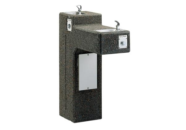 Image for Halsey Taylor Outdoor Sierra Stone Fountain, Bi-Level Pedestal, Non-Filtered, Non-Refrigerated from Halsey Taylor