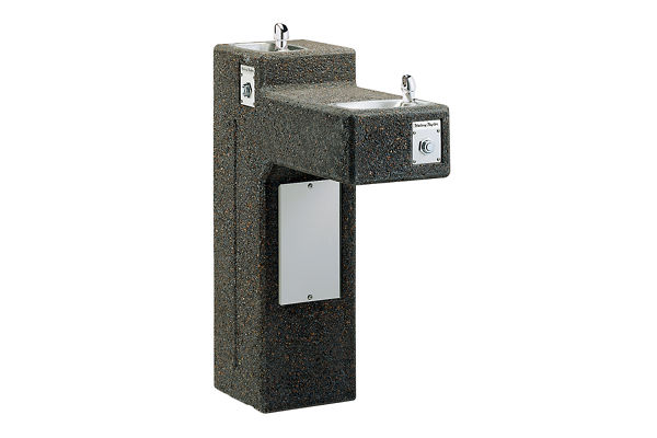 Halsey Taylor Outdoor Sierra Stone Fountain, Bi-Level Pedestal, Non-Filtered, Non-Refrigerated, Freeze Resistant
