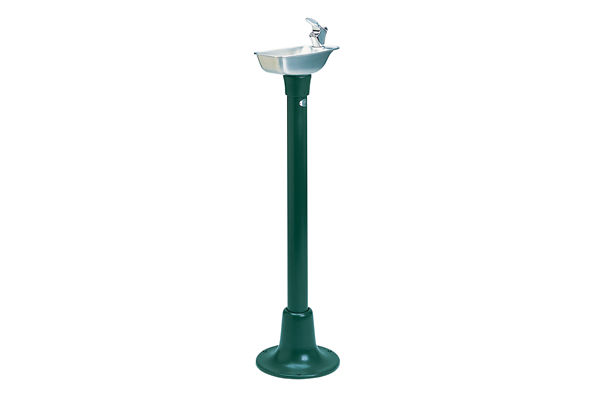 Halsey Taylor Outdoor Cast Iron Fountain, Non-Filtered, Non-Refrigerated, Forest Green