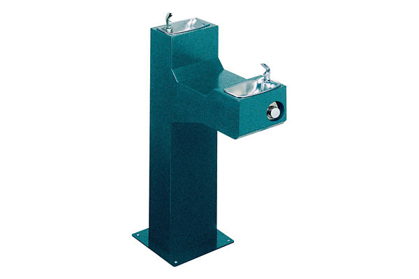 Halsey Taylor Outdoor Endura Fountain, Bi-Level Pedestal, Non-Filtered, Non-Refrigerated