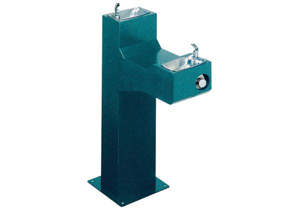 Image for Halsey Taylor Outdoor Endura Fountain, Bi-Level Pedestal, Non-Filtered, Non-Refrigerated from Halsey Taylor