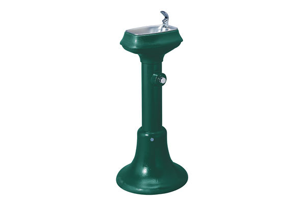 Halsey Taylor Outdoor Cast Iron Fountain, Non-Filtered, Non-Refrigerated, Freeze Resistant, Forest Green