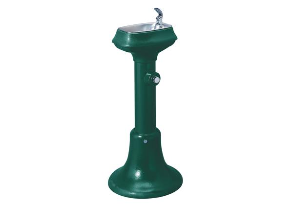 Image for Halsey Taylor Outdoor Cast Iron Fountain, Non-Filtered, Non-Refrigerated, Freeze Resistant, Forest Green from Halsey Taylor