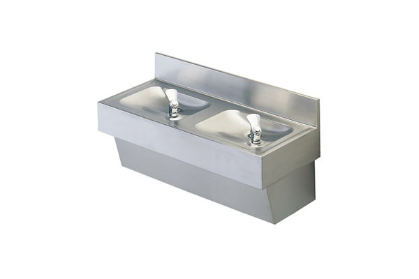 Halsey Taylor Multi-Station Fountain, Non-Filtered, Non-Refrigerated, Stainless