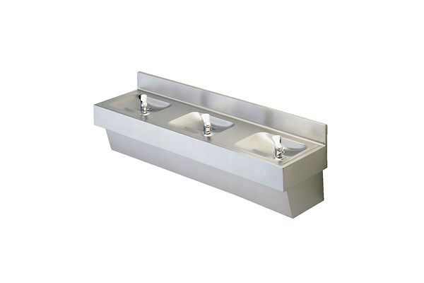 Halsey Taylor Multi-Station Fountain, Non-Filtered Non-Refrigerated Stainless