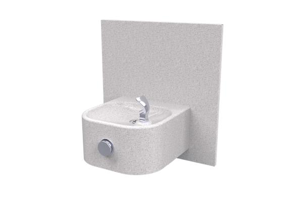 Image for Halsey Taylor Contour Marblyte Single Fountain, Non-Filtered Non-Refrigerated Gray from Halsey Taylor