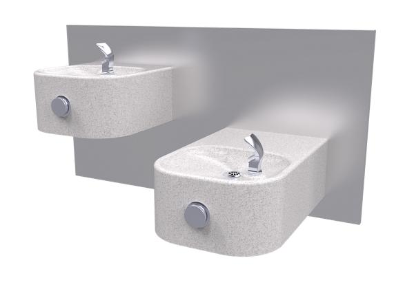 Image for Halsey Taylor Contour Marblyte Bi-Level Fountain, Non-Filtered, Non-Refrigerated, Gray from Halsey Taylor