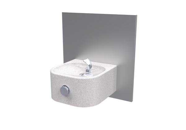 Image for Halsey Taylor Contour Marblyte Single Fountain, Non-Filtered, Non-Refrigerated, Gray from Halsey Taylor