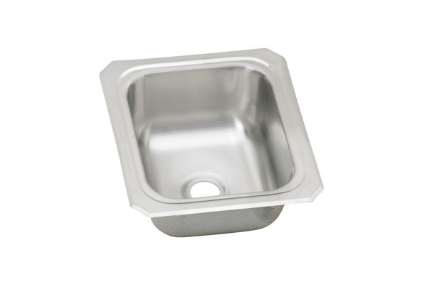 "Elkay Celebrity Stainless Steel 13"" x 15"" x 6-1/8"", Single Bowl Top Mount Bar Sink"