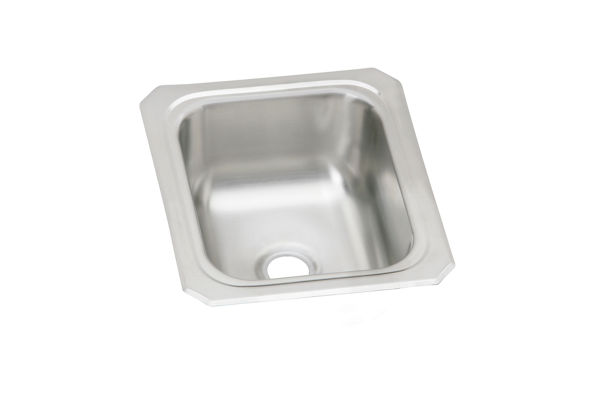"Elkay Celebrity Stainless Steel 13"" x 15"" x 6-1/8"", Single Bowl Drop-in Bar Sink"