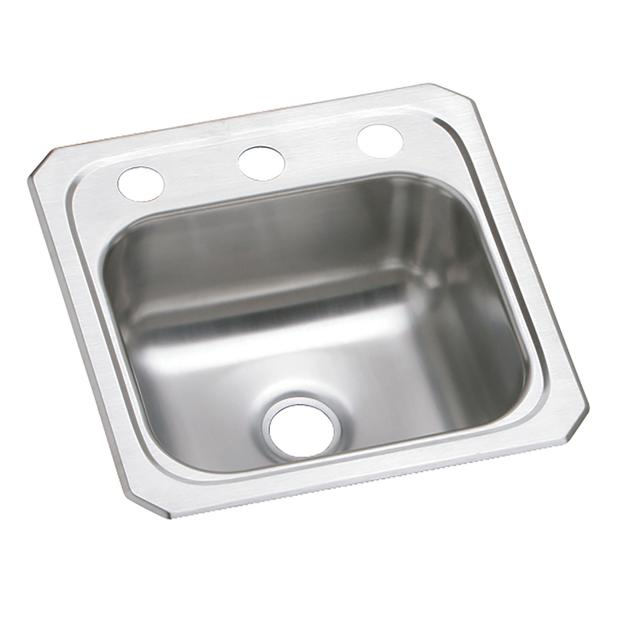 Top Kitchen Sinks Elkay top mount stainless steel kitchen sinks elkay celebrity stainless steel 15 x 15 x 6 18 workwithnaturefo