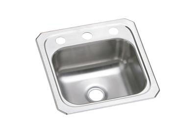 "Image for Elkay Celebrity Stainless Steel 15"" x 15"" x 6-1/8"", Single Bowl Top Mount Bar Sink from ELKAY"