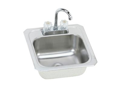 "Image for Elkay Celebrity Stainless Steel 15"" x 15"" x 6-1/8"", Single Bowl Top Mount Bar Sink + Faucet Kit from ELKAY"