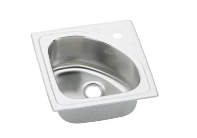 "Image for Elkay Lustertone Stainless Steel 15"" x 15"" x 6-1/2"", Single Bowl Top Mount Bar Sink from ELKAY"