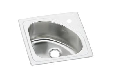 "Image for Elkay Lustertone Classic Stainless Steel 15"" x 15"" x 6-1/2"", Single Bowl Top Mount Bar Sink from ELKAY"