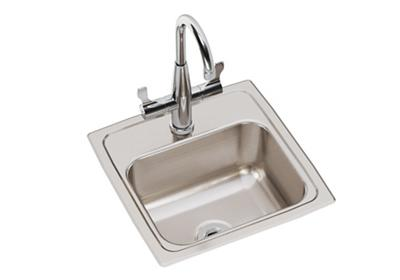 "Image for Elkay Lustertone Classic Stainless Steel 15"" x 15"" x 7-1/8"", Single Bowl Drop-in Bar Sink + Faucet Kit from ELKAY"