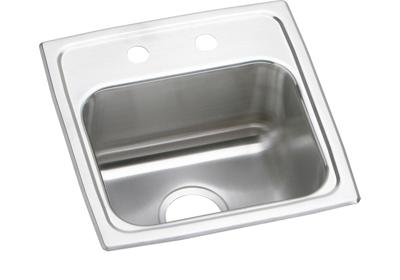 "Image for Elkay Lustertone Stainless Steel 15"" x 15"" x 7-1/8"", Single Bowl Top Mount Bar Sink from ELKAY"