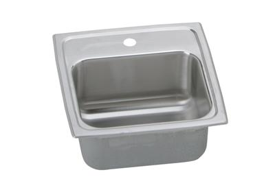 "Image for Elkay Gourmet Stainless Steel 15"" x 15"" x 6-1/8"", Single Bowl Top Mount Bar Sink from ELKAY"