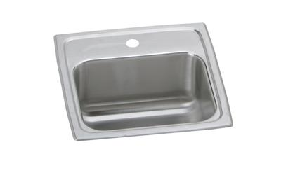 "Image for Elkay Lustertone Stainless Steel 15"" x 15"" x 6-1/8"", Single Bowl Top Mount Bar Sink from ELKAY"