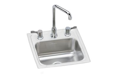 "Image for Elkay Pacemaker Stainless Steel 15"" x 15"" x 6-1/8"", Single Bowl Drop-in Bar Sink + Faucet Kit from ELKAY"