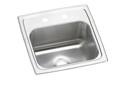 "Image for Elkay Pacemaker Stainless Steel 15"" x 15"" x 6-1/8"", Single Bowl Top Mount Bar Sink from ELKAY"