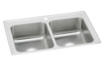 "Image for Elkay Pacemaker Stainless Steel 23"" x 17"" x 6-1/8"", Equal Double Bowl Top Mount Sink from ELKAY"