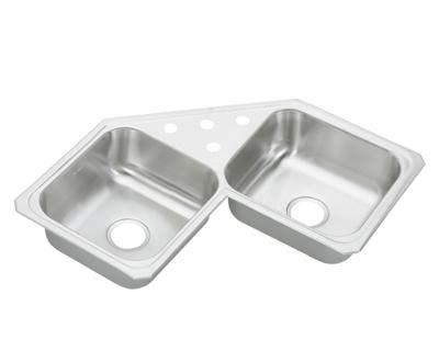 Image for Gourmet (Celebrity) Stainless Steel Double Bowl Top Mount Sink from elkay-consumer