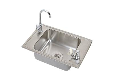 "Image for Elkay Celebrity Stainless Steel 25"" x 17"" x 6-1/2"", Single Bowl Top Mount Classroom Sink and Faucet Kit from ELKAY"
